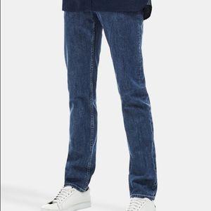 Lacoste standard fit straight leg denim blue jeans